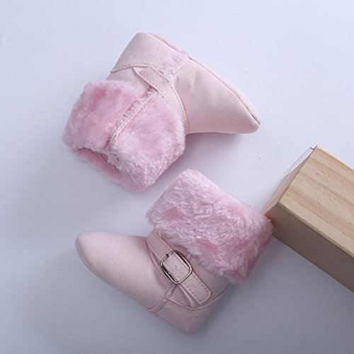 Zapatos Para Bebé,Xinantime Primeros Pasos Algodón de Arranque (17, Rosa Caliente) Rosa