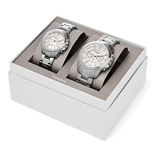 Fossil Grant Chronograph Stainless Steel Watch Box Set ()