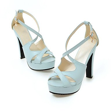LvYuan Mujer Sandalias Semicuero Primavera Verano Otoño Perla de Imitación Hebilla Tacón Stiletto Blanco Negro Azul Rosa 10 - 12 cms White