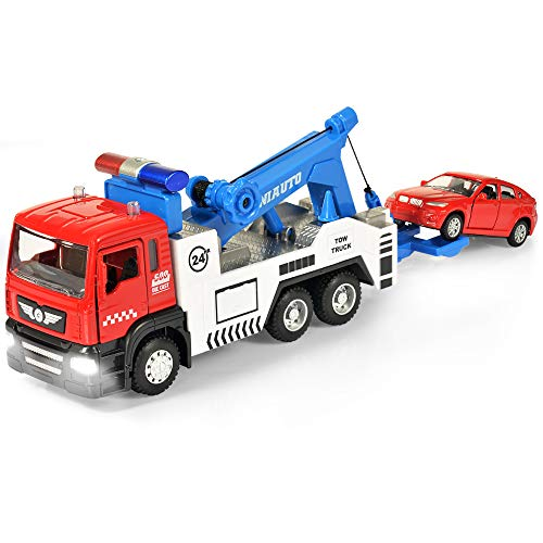 Toy Tow Truck Wrecker Toys for Boys and Girls with Lights and Sounds (1PC)