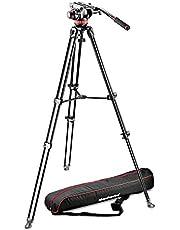Manfrotto 502 MVK502AM-1 Levelling Fluid Video Head&mvt502am Alu Twin Leg Tripod, Black
