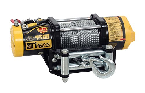T-MAX 47-1245 ATW Pro Trailer Series ATW Pro-4500 4500lb 12V 1.3hp Winch with Steel Cable & Wired Hand Control ()