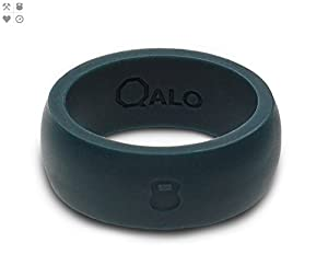 QALO- Men's Slate Grey Silicone Ring (16)