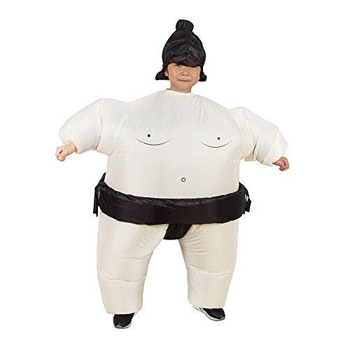 Aolvo Funny Sumo Inflatable Costume Halloween Party Cosplay Fat Inflatable Wrestler Suit, Child for $<!--$23.99-->