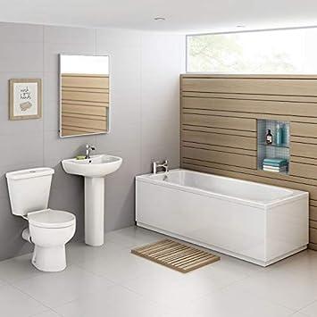 Ensemble de salle de bain avec douche, baignoire droite ...