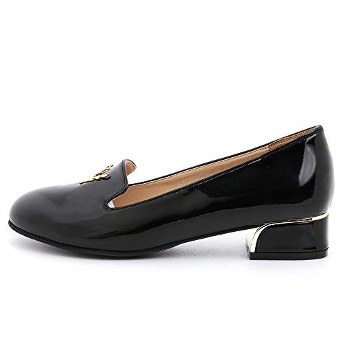 BLACK MARTINE SITBON Womens Enamel Antler Loafer Black nW9sL