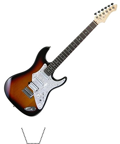 Novelty Electric Guitar 12 Edible Stand up wafer paper cake toppers (5 - 10 BUSINESS DAYS DELIVERY FROM UK)