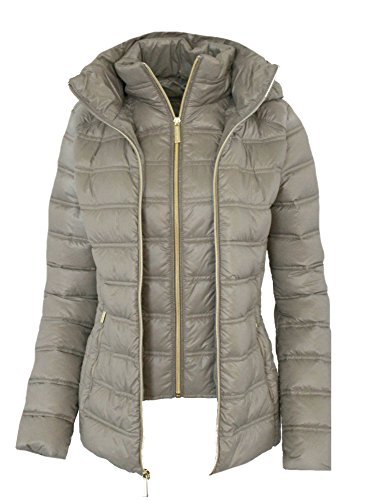 Michael Michael Kors Women's Down Short Packable Puffer Jacket Fall 2017 Taupe (M) by Michael Kors (Image #1)