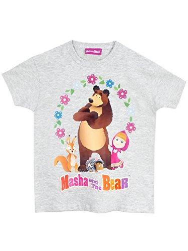 Masha and the Bear Girls' Masha and the Bear T-Shirt Size 4 (Girl Bear)
