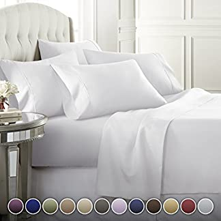 6-Piece-Hotel-Luxury-Soft-1800-Series-Premium-Bed-Sheets-Set-Deep-Pockets-Hypoallergenic-Wrinkle-Fade-Resistant-Bedding-SetCalking-White