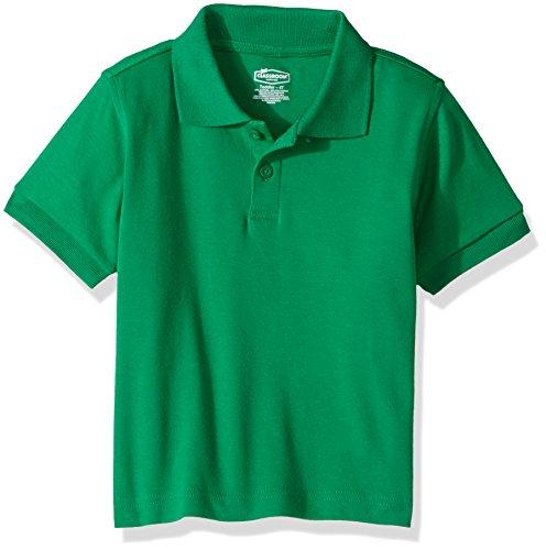 Classroom Kids Toddler Unisex Short Sleeve Interlock Polo, sos Kelly Green, 4T