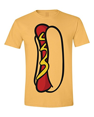 Allntrends Adult T Shirt Hot Dog Shirt Food Costume Cool Halloween Tshirt (XL, Honey) - Hot Dog Costume Ideas