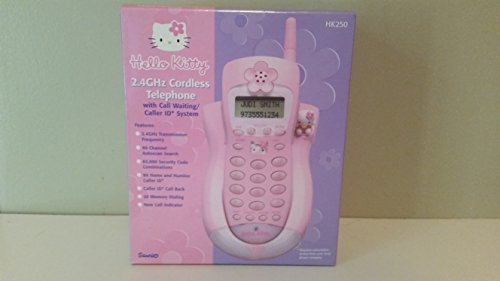 Hello Kitty Telephone (Hello Kitty Cordless Phone 2.4 GHz with Call Waiting and Caller ID)