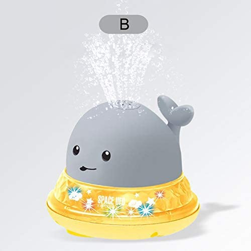 Whale Tub Shower Toy Electric Light Induction Spray Ball Luminous Water Ball Shower Toys Water Spray Toys for 12 18 Months 1 2 Year Olds Toddlers Infants Girls Boys Syfinee Baby Bath Toys