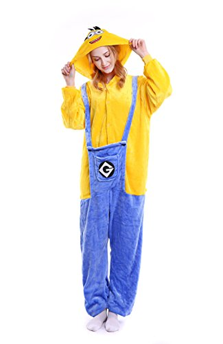 Yutown Unisex-adult Animal Onesie Pajamas Kigurumi Cosplay Costume Minion XL