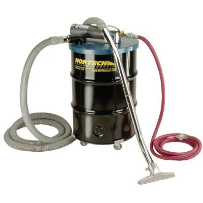 - Nortech N551BC B Vacuum Unit with 2-Inch Inlet and Attachment Kit, 55-Gallon