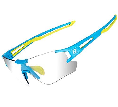 ROCKBROS Fietszonnebril Dames Heren Fotochromatisch met UV400 Bescherming Fietsbril Transprante Meekleurend voor…