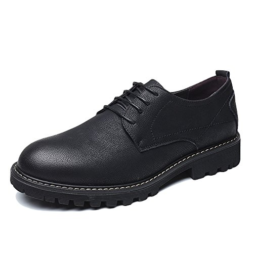 WKNBEU Scarpe Da Uomo In Pelle Primavera Estate Giallo Nero Marrone Moda Low Top Casual Derby Oxford Business Formal Lace Shoes C