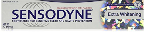 Sensodyne Toothpaste for Sensitive Teeth and Cavity Prevention, Maximum Strenth Extra Whitening 2.7 oz (3 -