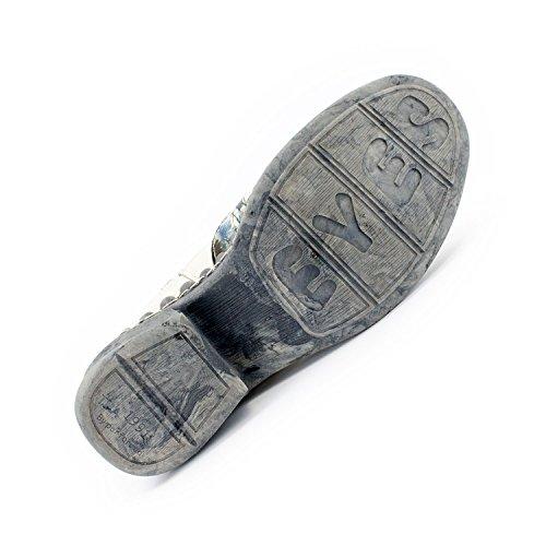 Echtleder Knöchel Cremeweiß SEELENlook Schuhe TMA Damen qEwIBHH