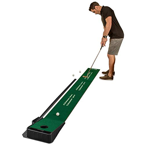 SKLZ Accelerator Pro Indoor Putting Green with Ball Return