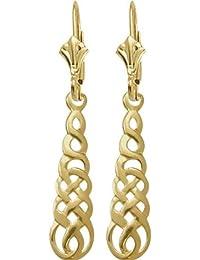 Celtic 10 Karat Yellow Gold Earrings