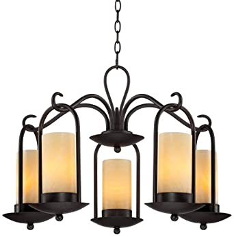 Onyx Faux Stone Candle 30 Quot Wide Indoor Outdoor Chandelier
