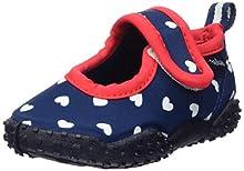 Playshoes Zapatillas de Playa con protección UV Corazones, Zapatos de Agua para Niñas, Azul (Marine 11), 28/29 EU