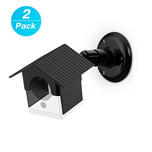 Wyze Camera Wall Mount Bracket, Weather Proof 360 Degree Protective Adjustable Indoor and Outdoor Mount Cover Case for WyzeCam 1080p Smart Camera and Spot Camera Anti-Sun Glare UV Protection (Black)