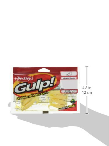 8cm Berkley Gulp Double Tail Minnow Grub Pearl White Fishing Bait 3 Multi