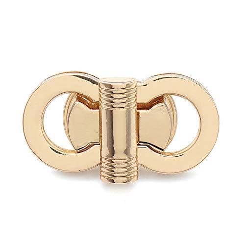 Blue Stones Shape Alloy Lock 4.5x2CM Twist Turn Lock Snap Clasps Closure for DIY Bag Accessories Purse Buckle Gold 1PCS
