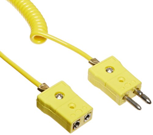 - Chemglass CG-3499-04 Thermocouple Extension Cord with Standard Female to Standard Plug, Type K, Yellow