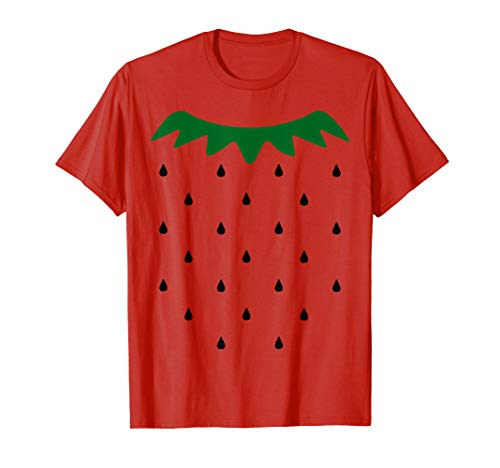 Strawberry Halloween Costume Simple Black Seeds T-shirt -