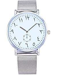 Women Quartz Watch Arab Number Unique Analog Fashion Classic Clearance Geneva Stainless Steel Lady Student Watches