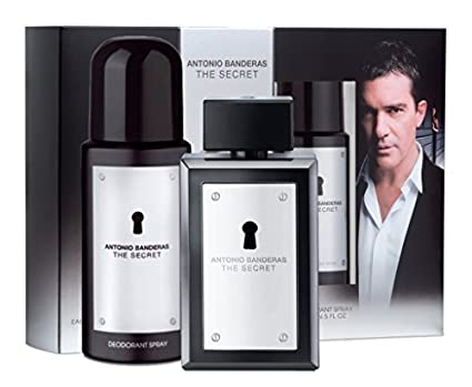 Lujoso-Estuche regalo para hombre-Antonio Banderas THE SECRET-Colonia 50 ml Spray