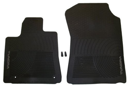 Genuine Toyota Accessories PT908-3400W-02 Front All-Weather Floor Mat - (Black), Set of 2