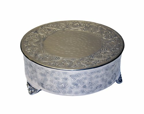 GiftBay Creations 743-20R.AMA Wedding Round Cake Stand, 20-Inch, Silver by GiftBay Creations   B01N0ZMC7P