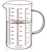 Luvan Tasses à mesurer en Verre(1 Litre),Verre doseur, Verre à mesurer cuisine pour la Cuisine ou...