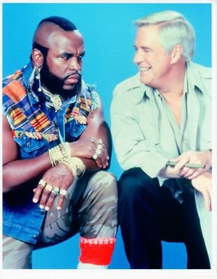 PHOTO D7644 George Peppard Mr T The A Team by Fabulous Hollywood Memories