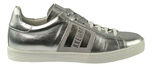 Bikkembergs Words 889, Women's Low Trainers Silber