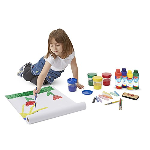 Melissa & Doug Easel Accessory Set - Paint, Cups, Brushes, Chalk, Paper, Dry-Erase Marker by Melissa & Doug (Image #1)