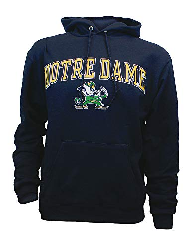 Elite Fan Shop Notre Dame Fighting Irish Hoodie Sweatshirt Captain Navy - L
