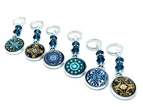 Medallion Stitch Marker Charms- Knitting Jewelry