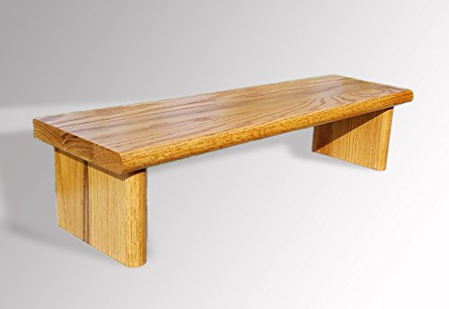 Monitor Stand OST24-7-5 Oak Unfinished Stained or Painted 24 x 7 x 5 TV Wood Shelf Riser Furniture Desk Assembled Made in USA NEW