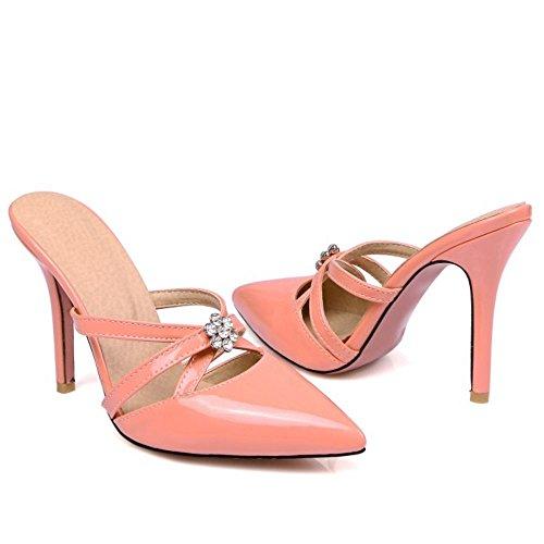Sandali Chiusa Mode Zanpa Punta Mules Donna a Pink aUYxqwnzIx