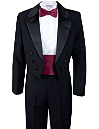 Boys' Black Classic Tuxedo with Tail