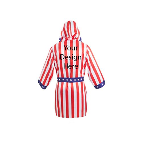 Make Your Own Male Halloween Costume (Custom Robe Add Your Own Text Name or Image Costume Robe (Adult American)
