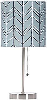 product image for Glenna Jean Happy Camper Mod Lamp and Shade, Blue Chevron