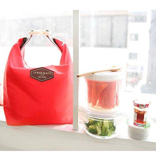 Generic Green: termica impermeabile pranzo Carry Storage Bag per viaggi camping nylon picnic borsa pranzo organizador