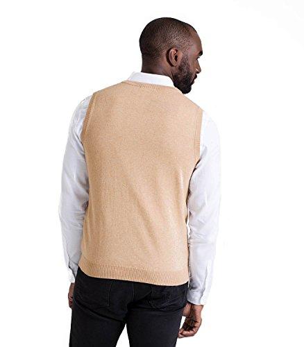 WoolOvers Pullunder aus Baumwolle-Kaschmirwolle für Herren Sand, M